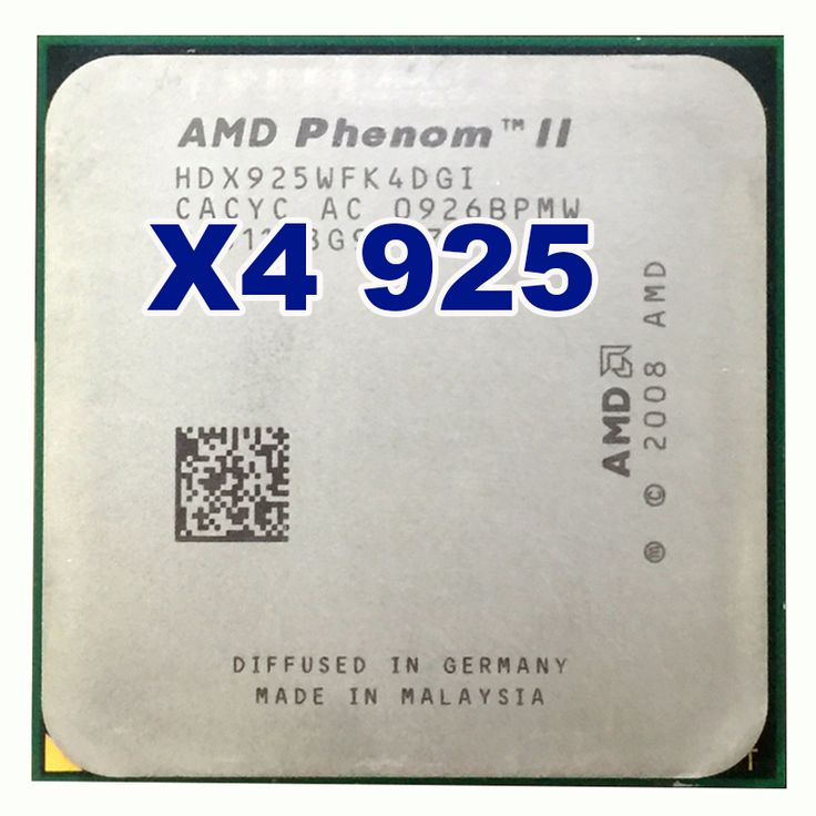 AMD Phenom II X4 925 CPU 2.8GHz 6MB L3 Cache Socket AM3 PGA938 Desktop Quad core  processor #Affiliate