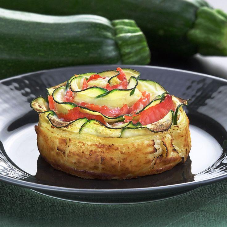 zucchini fingerfood – rezept für zucchini blume im