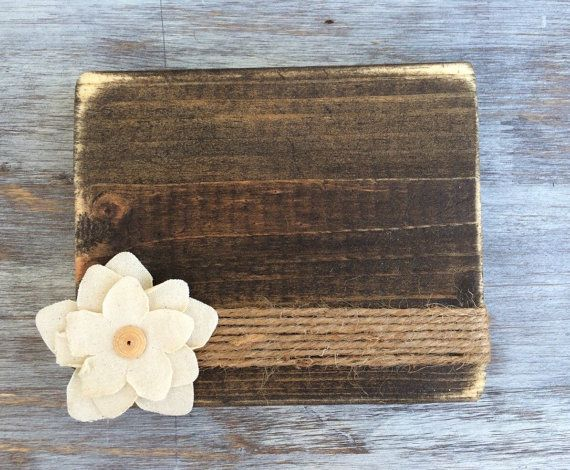 This Listing Is For One Distressed Horizontal Frame Accented with a Canvas Flower. Frames will hold a 4x4 Instagram photo or a 3x5 wallet size
