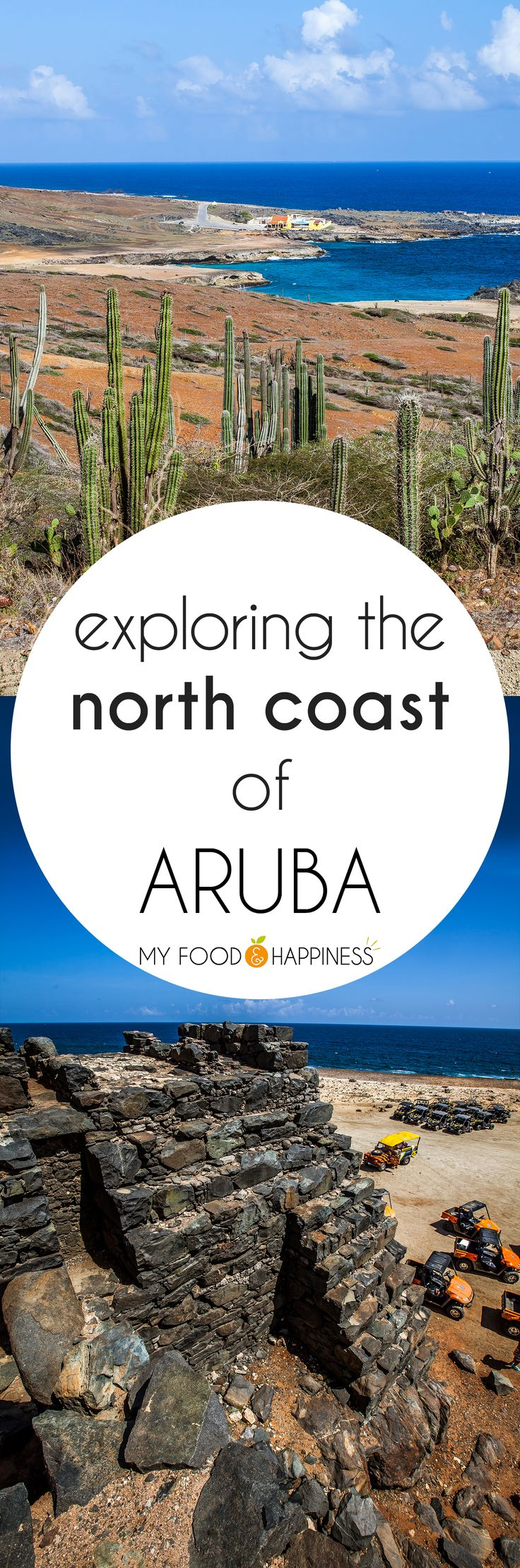 An adventurous tour across Aruba's north coast, exploring the desert scenery of the island. Boca natural pool, Bushiribana gold mines and the best snorkelling beach in Aruba are some of the stops of our tour.