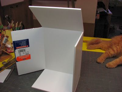 Dollhouse Miniature Furniture - Tutorials | 1 inch minis: Building a Quick Room Box Tutorial ---- How to build a quick room box for dollhouse miniatures from foam core and a purchased frame.
