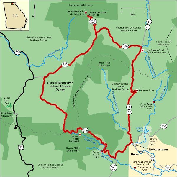 Best Hiking North GA Images On Pinterest Georgia Hiking And - Georgia map brasstown bald