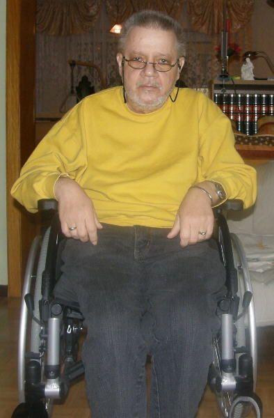 Ende 2013 im Rollstuhl