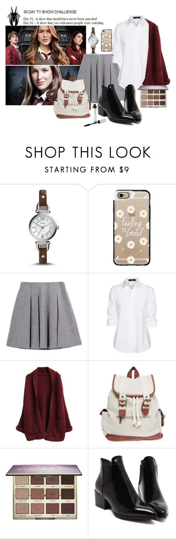 """""""Day 02 - A show that you wish more people were watching : House of Anubis    street style #53"""" by alexiadoremma ❤ liked on Polyvore featuring FOSSIL, Casetify, Fall Winter Spring Summer, Steffen Schraut, Wet Seal, tarte, Borghese, women's clothing, women and female"""