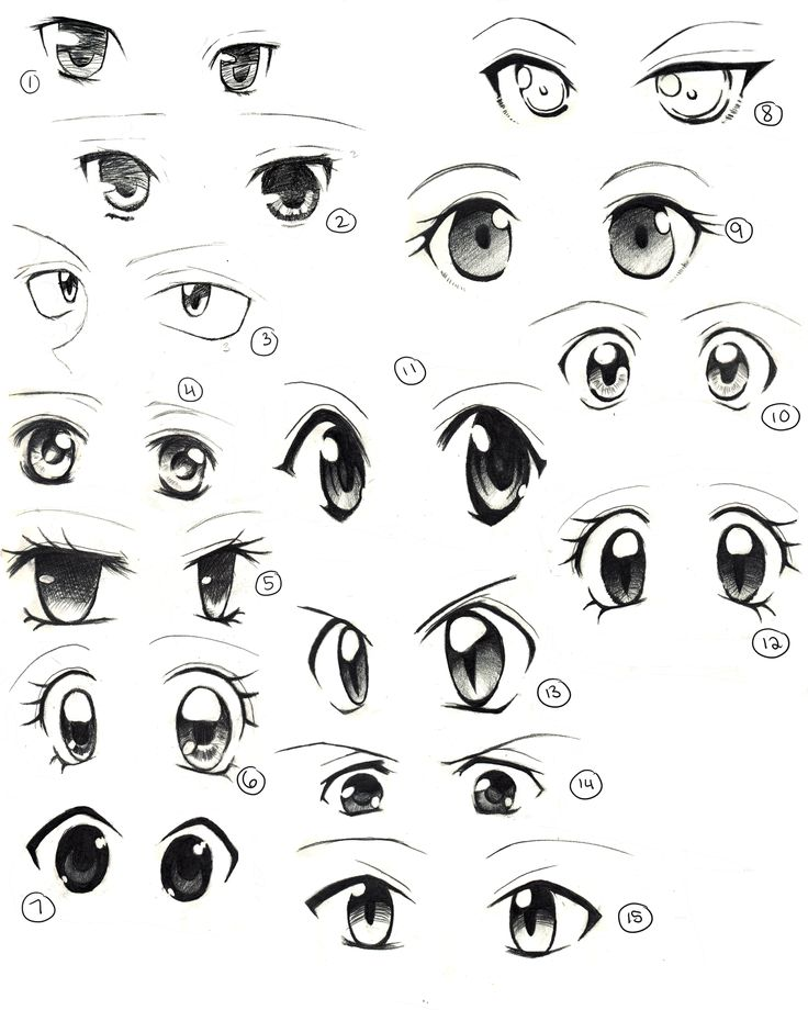 Anime Drawings Of Eyes