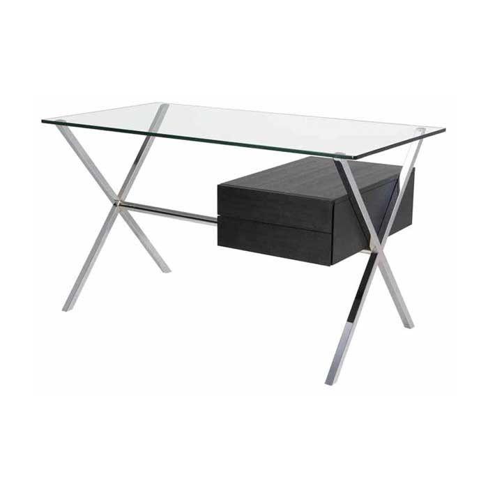 Xavier Clear Glass Desk Table