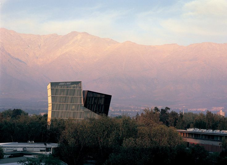 The Siamese Towers at the San Joaquin Campus, Universidad Catolica de Chile Santiago by architect Alejandro Aravena