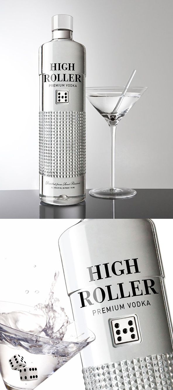 High Roller Premium vodka, 25 Amazing Bottle Packaging Design examples, packaging design, packaging design inspiration, design inspiration, ...