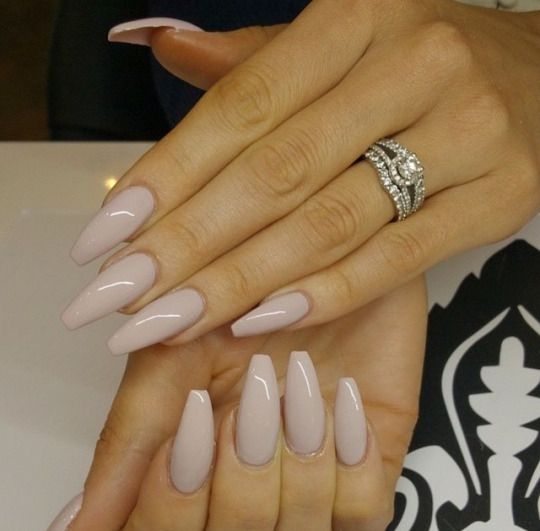 Nude pointed nails www.publicdesire.com