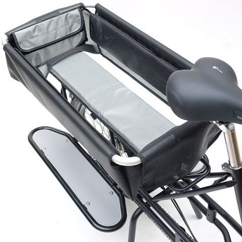 Reveresible #cycle solution for rear load on #Justlong the #openable basket bottom and folding #siderack