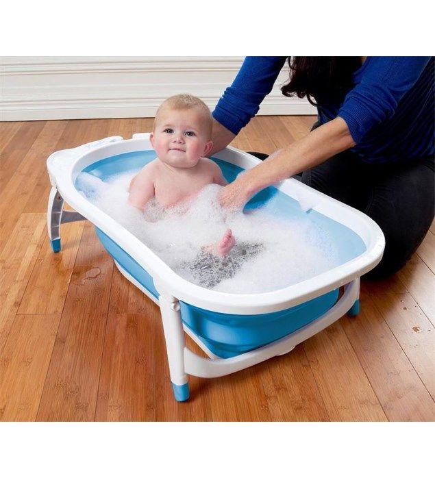 90012221101 Babyway Karibu Foldable Bath Blue Lifestyle Large