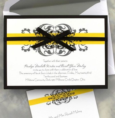 17 Best Images About Black And Yellow Wedding On Pinterest