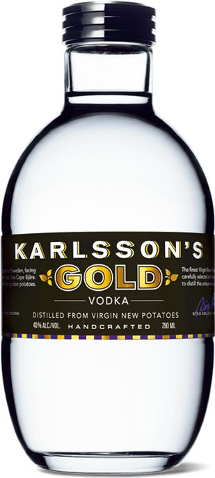 """Karlsson's Gold Vodka - """"earthy"""" potato vodka suitable for savory mixed drinks"""