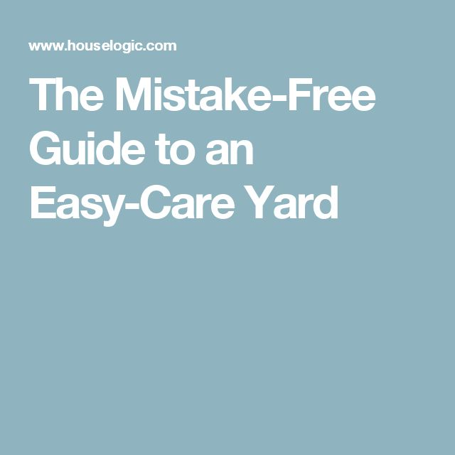 The Mistake-Free Guide to an Easy-Care Yard