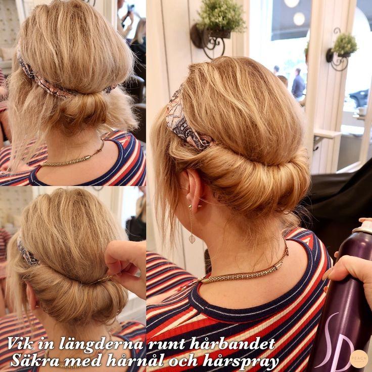 Hur man kan styla håret med ett hårband.