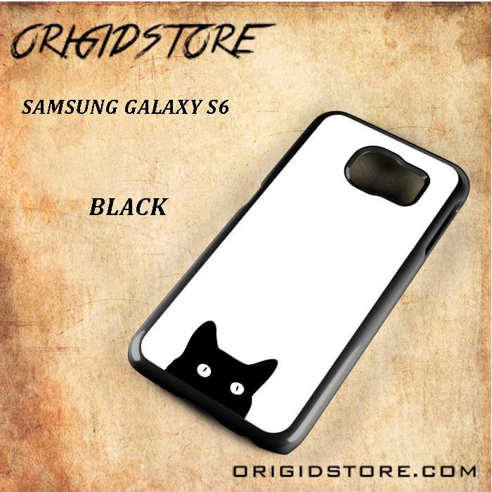 Peep Black Cat Black White Snap On Or 3D For Samsung Galaxy S6