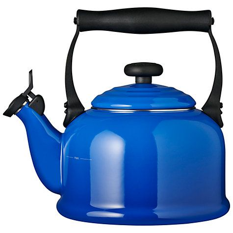Buy Le Creuset Traditional Stovetop Whistling Kettle, Marseille Blue Online at johnlewis.com.....love it