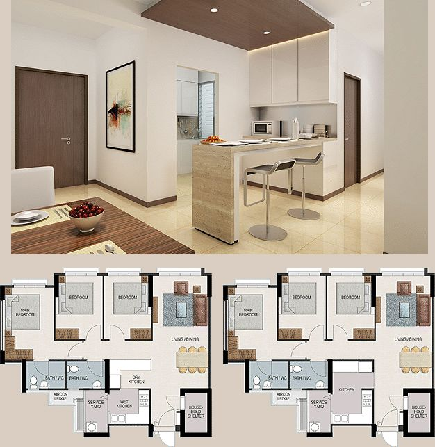 SINGPOST~ QUEST FOR AMUSEMENT: Home Improvement Series   HDB Kitchen  Layouts Reference   Punggol Part 33