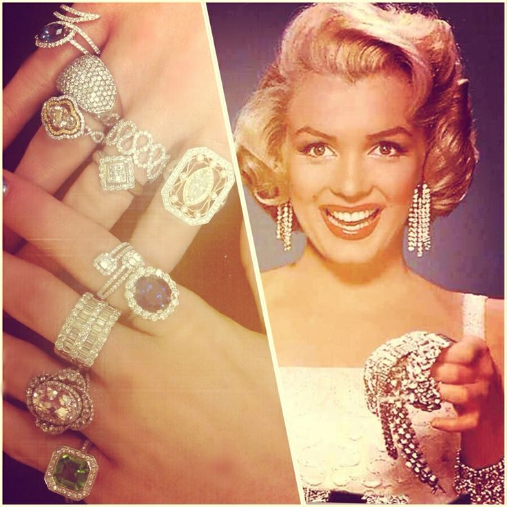 Inspired by Marilyn Monroe- Diamonds Are A Girl's Best Friend!