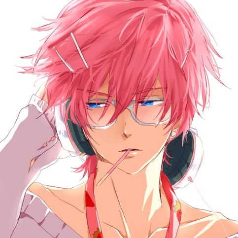 Cool Anime guy with pink hair <3