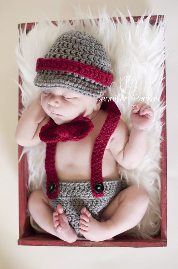 Little Mister Man Newborn Baby Boy hat suspenders by KaityBraedy, $32.00
