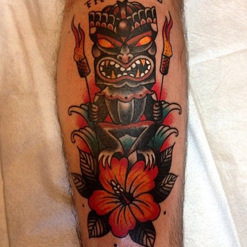 10 best tiki tattoos images on pinterest tiki tattoo tattoo designs and tatoo. Black Bedroom Furniture Sets. Home Design Ideas