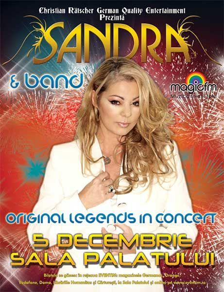 Concert Sandra la Sala Palatului pe 5 decembrie 2014