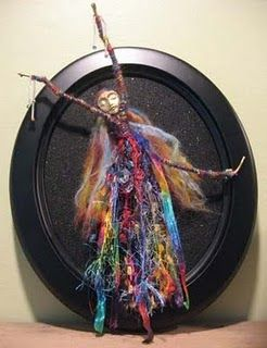 Precreating for #30daysofcreativity: a stick doll made with painted twigs, beads, fibers, etc.