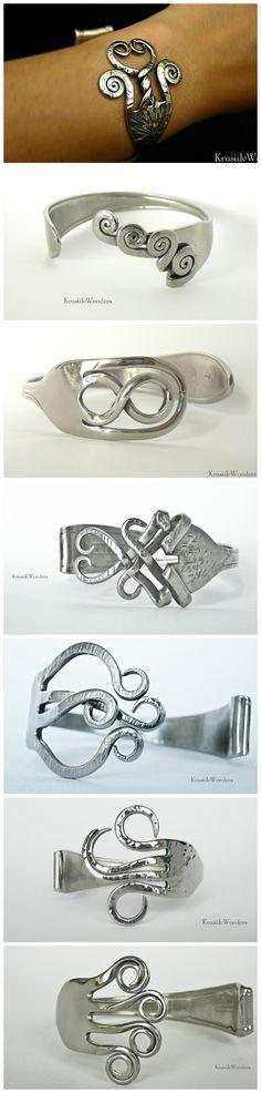 Hand-sculpted Fork Bracelet                              …