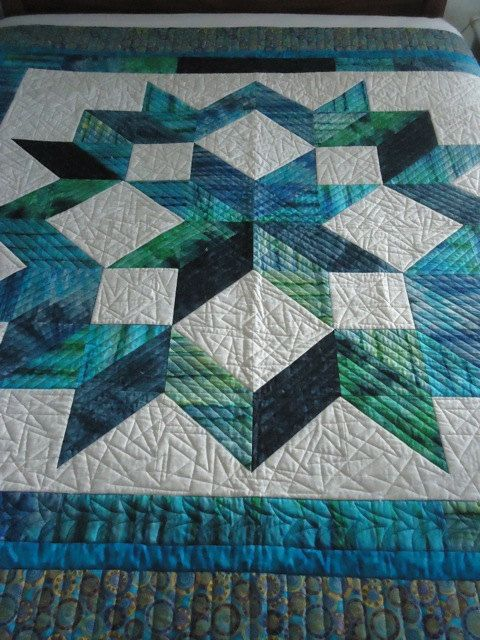 Carpenters Star Quilt by QuiltsbyMarge on etsy.com