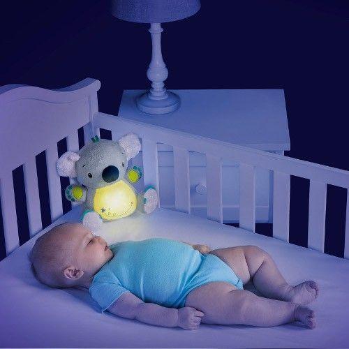Bright Starts - Jucarie cu Sunete si Lampa de Veghe Twinkle Tummy Buddy
