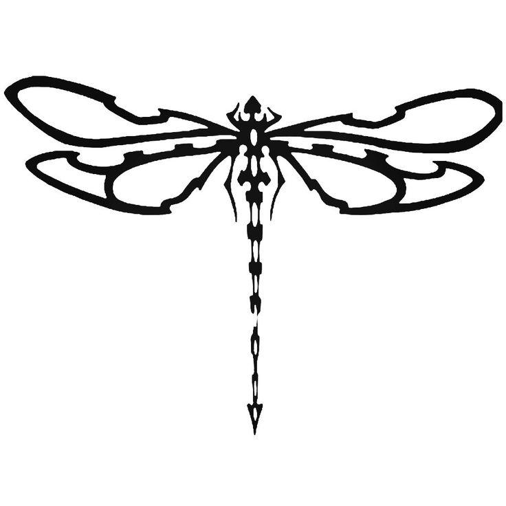 Tribal Dragonfly 2 Vinyl Decal Sticker BallzBeatz . com ...