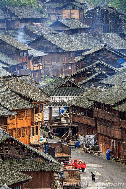 Huanggang Dong Village, Guizhou China | 贵州-从江-黄岗侗寨 View of … | Flickr