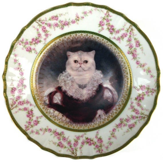 Altered Vintage Plate - Queen Nadira of Persia by Beat Up Creations at www.childrensdept.com.au