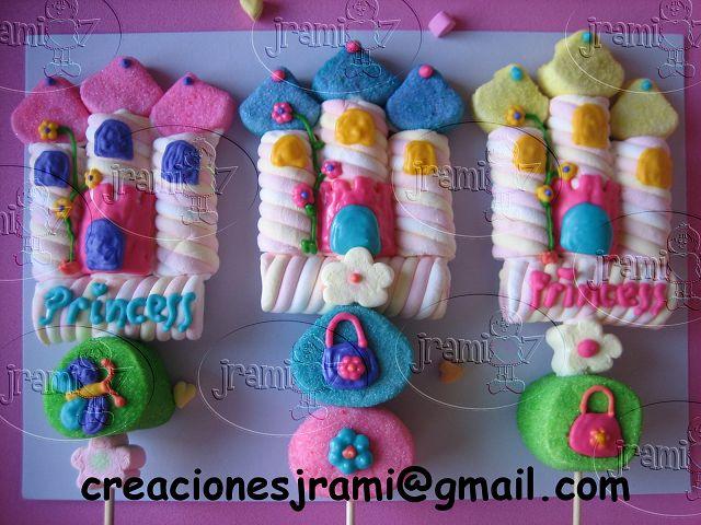 Bombones Decorados/Marshmallows on Pinterest | Marshmallow Flowers ...