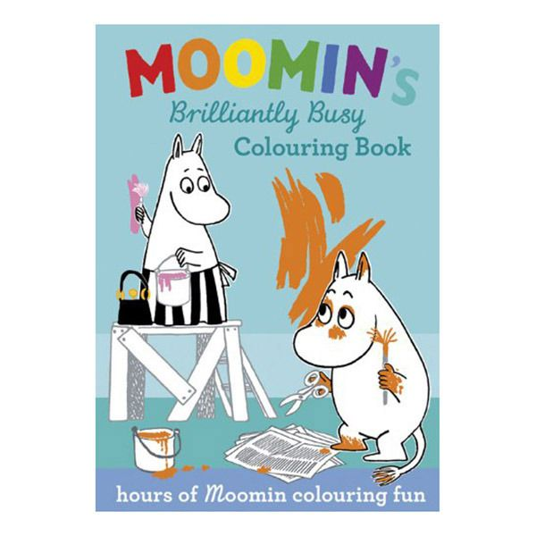 Moomin's Brilliantly Busy (Activity Book)             Moomins love adventures, and today the Moomin family have a busy day ahead - building sandcastles at the beach, eating a picnic in the woods, playing games in the Moominhouse and even fishing for treasure. They can't wait to get started - all they need is you to colour them in.