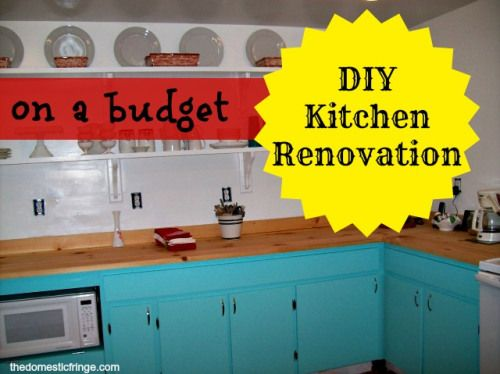 DIY: Home Renovation - A New Kitchen on a Budget - DIY Butcher Blog Countertops and Recycled Cabinets.