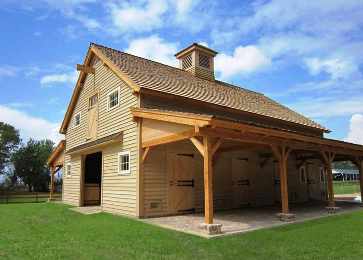 Post And Beam Constructed Horse Barn