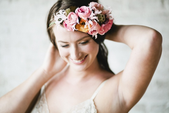 Hairpiece by Lisa Roy @Florencia Cotignola Bella @Louisa Jane Podlich Photography @Ronald Miller III and Roses