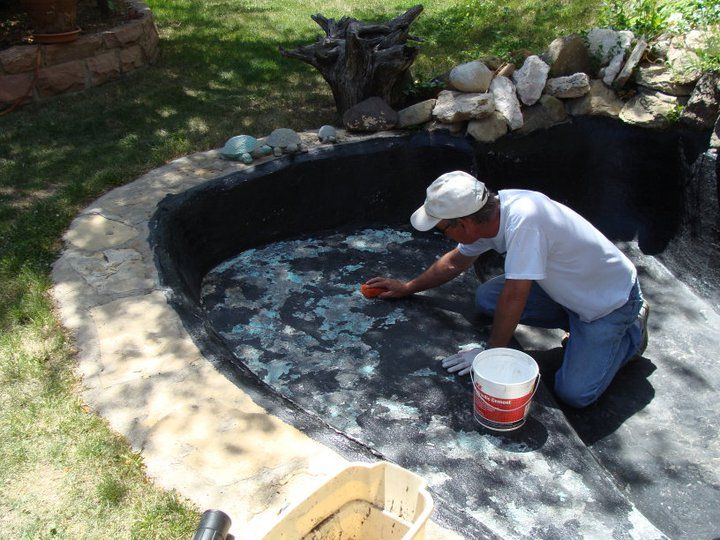 81 best epdm pond liners images on pinterest epdm pond for Concrete garden pond