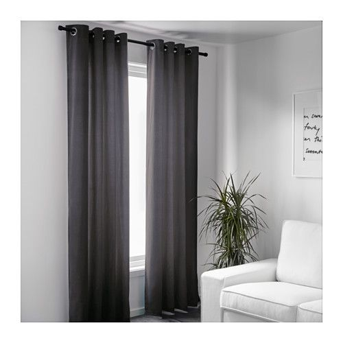 Ikea Sanela Curtains 1 Pair Cotton Velvet Gives Depth To