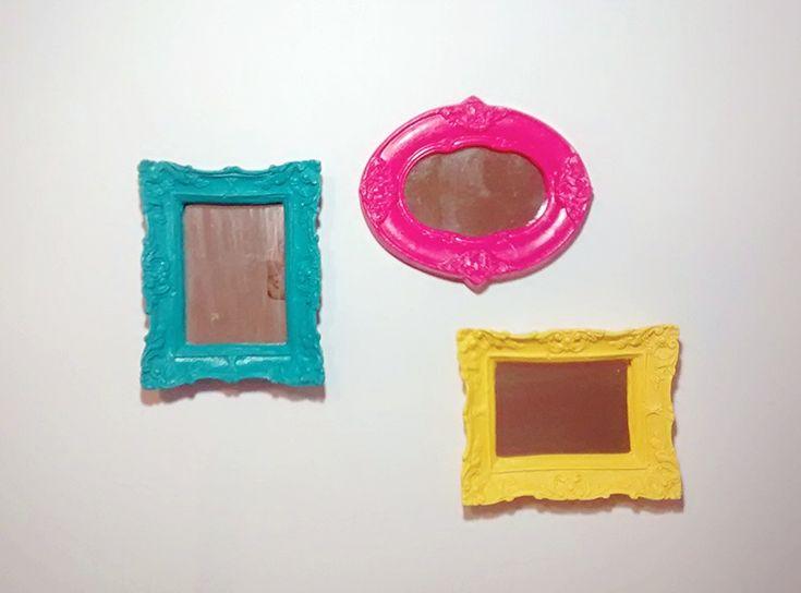 Concepção de Kit Espelhos Peq. - Azul Pink e Amarelo e preço http://ift.tt/2AcaTqb
