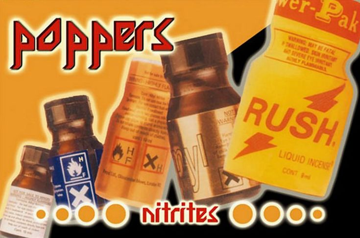 """What are poppers? ""Poppers"" is the popular name for various alkyl nitrites, including isobutyl nitrite, butyl nitrite, and amyl nitrite. Doctors used to prescribe amyl nitrite for heart patients in..."" Learn more: http://www.fightnow.org."