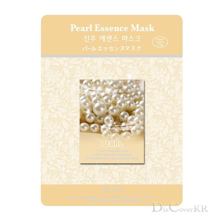 Facial Skin Care Pearl Essence Face Mask Sheet Moisture Essence Mask Pack #MJCARE #KoreaCosmetics