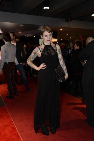 Béatrice Martin a opté pour la tendance gothique avec cette robe Ovate.