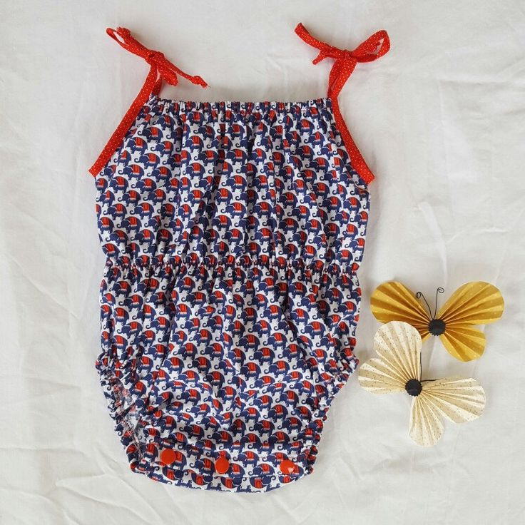 Gosh I love this elephant fabric. So happy to add it to our marlini boutique romper collection.