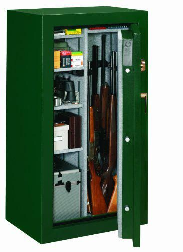 Stack-On FS-24-MG-C 24-Gun Fire Resistant Safe with Combination Lock, Matte Hunter Green Inside View