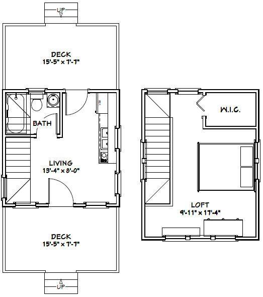 49 best house plans images on pinterest house floor for 14x14 cabin plans
