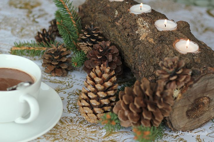 Log Tealight Centerpiece