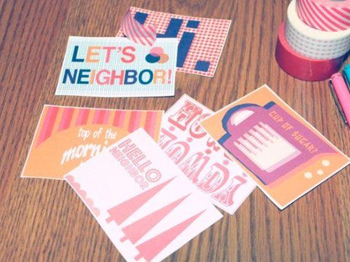 Tarjetas de bienvenida: Neighbor Cards, Sweet Note, Images Results, Printable Neighborcard, Perfect Printable, Google Images, Letsneighbor Printable, Free Printable, Work Inspiration